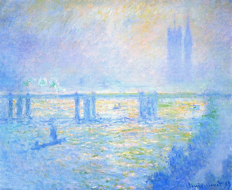 Charing Cross Bridge 03. Claude Oscar Monet