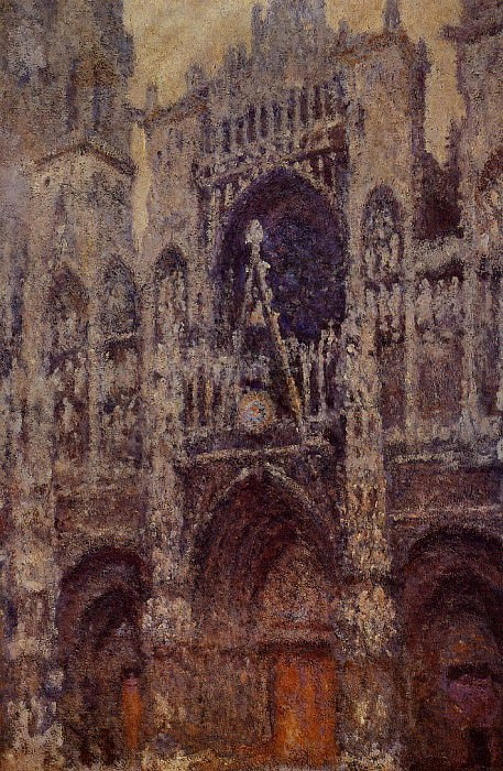 Rouen Cathedral, the Portal, Grey Weather. Клод Оскар Моне
