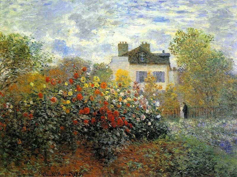 The Garden of Monet at Argenteuil. Claude Oscar Monet