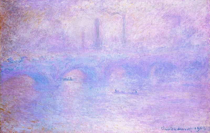 Waterloo Bridge, Fog. Claude Oscar Monet