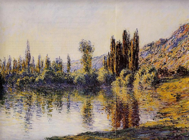 The Seine at Vetheuil 2. Claude Oscar Monet