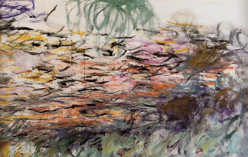 Water Lilies (right half). Claude Oscar Monet
