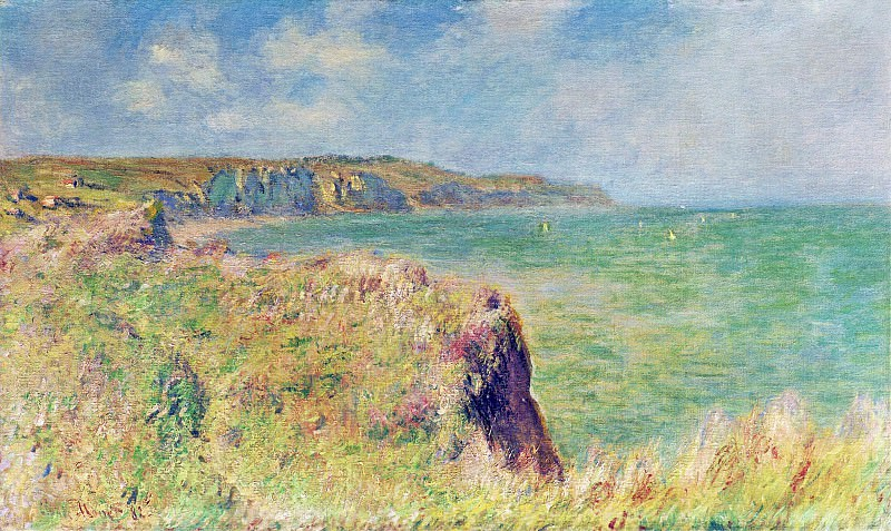 Edge of the Cliff at Pourville. Claude Oscar Monet