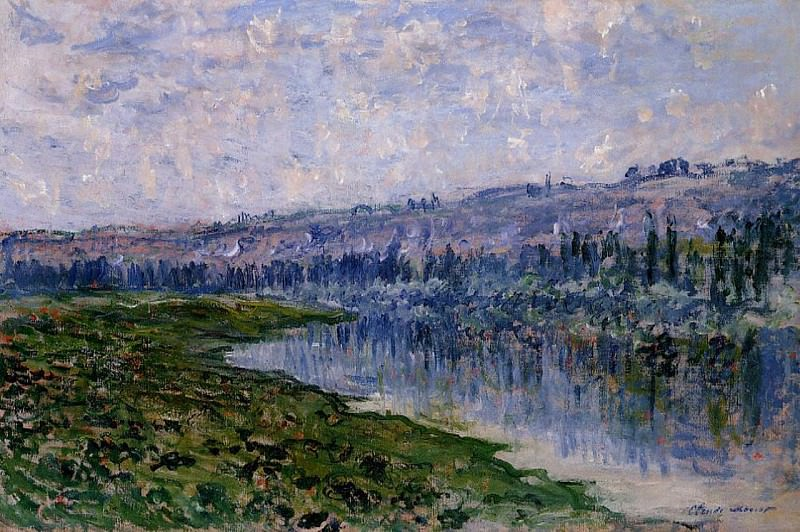 The Seine and the Chaantemesle Hills. Claude Oscar Monet