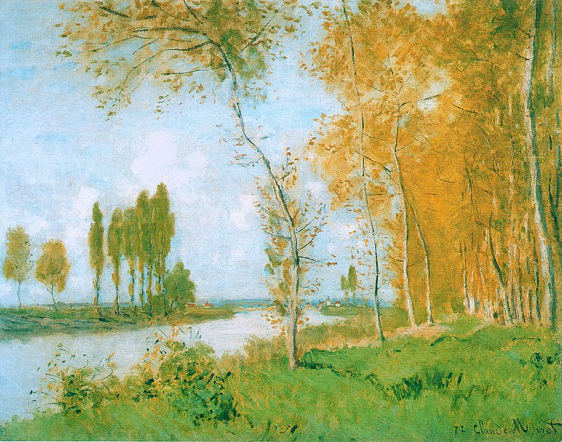 The Spring in Argentuil. Клод Оскар Моне