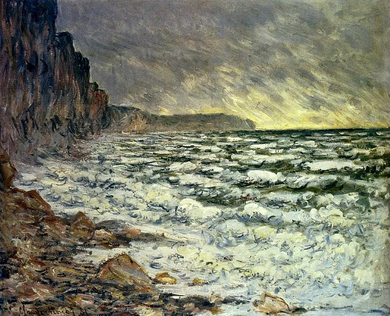 The Sea at Fecamp, 1881 2. Claude Oscar Monet