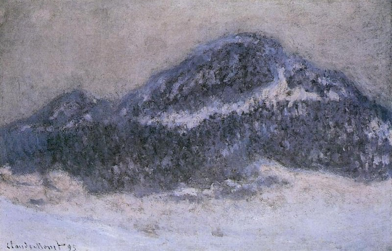 Mount Kolsaas in Misty Weather. Claude Oscar Monet