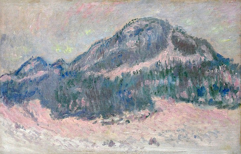 Mount Kolsaas, Rose Reflection. Claude Oscar Monet