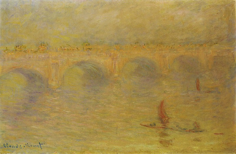 Waterloo Bridge, Sunlight Effect. Claude Oscar Monet