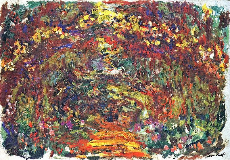 Path under the Rose Trellises, Giverny. Claude Oscar Monet