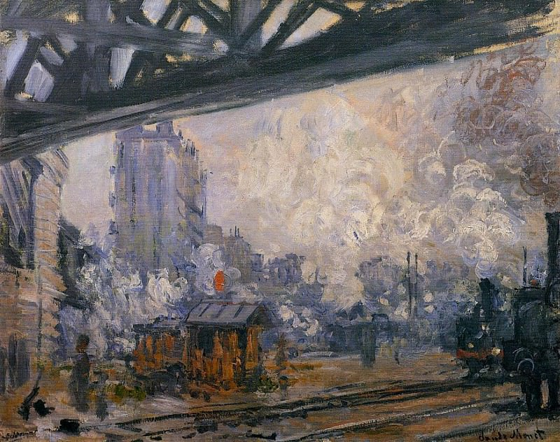 Saint-Lazare Station, Exterior View. Claude Oscar Monet