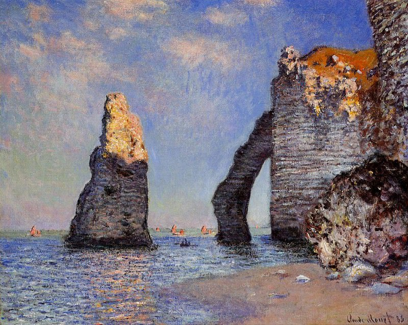 The Rock Needle and the Porte d'Aval. Claude Oscar Monet