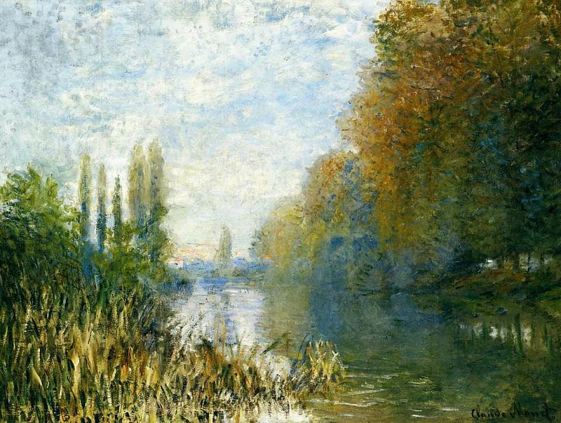 The Banks of The Seine in Autumn. Claude Oscar Monet