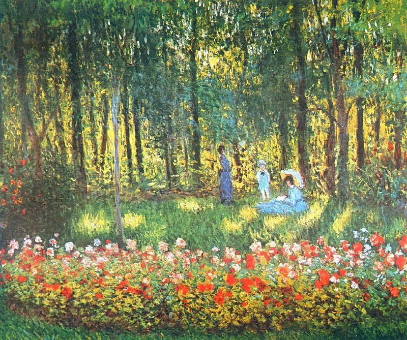 The Artist's Family in the Garden. Claude Oscar Monet