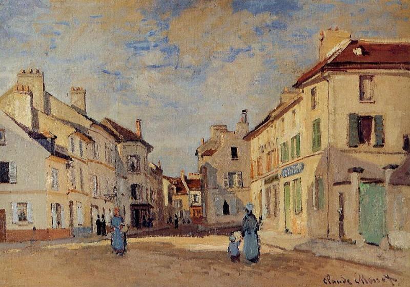 The Old Rue de la Chaussee, Argenteuil. Claude Oscar Monet
