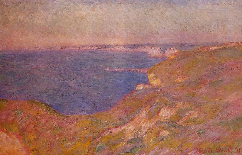 Cliff near Dieppe. Claude Oscar Monet