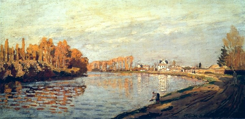The Seine near Bougival. Claude Oscar Monet