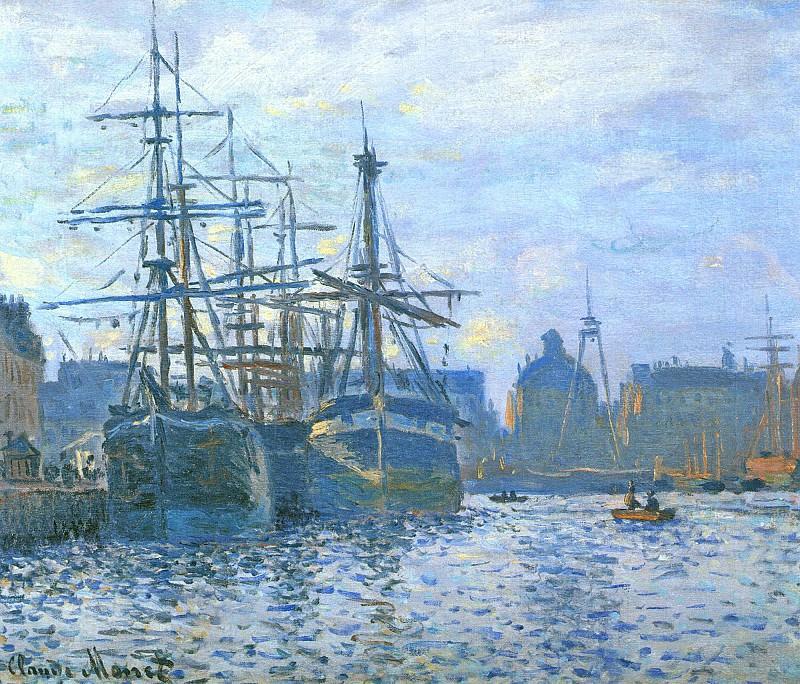 Le Havre, Le bassin du commerce. Claude Oscar Monet