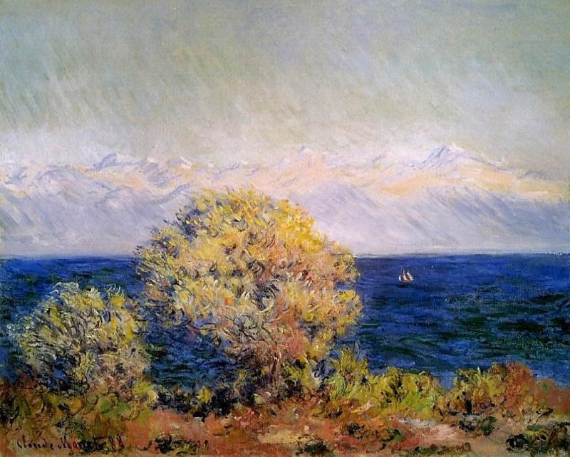 At Cap de Antibes, Mistral Wind. Claude Oscar Monet