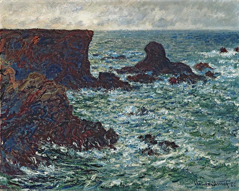 Rocks at Port-Coton, the Lion. Claude Oscar Monet
