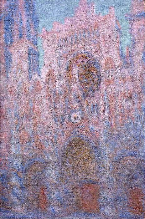 Rouen Cathedral, Symphony in Grey and Rose. Claude Oscar Monet