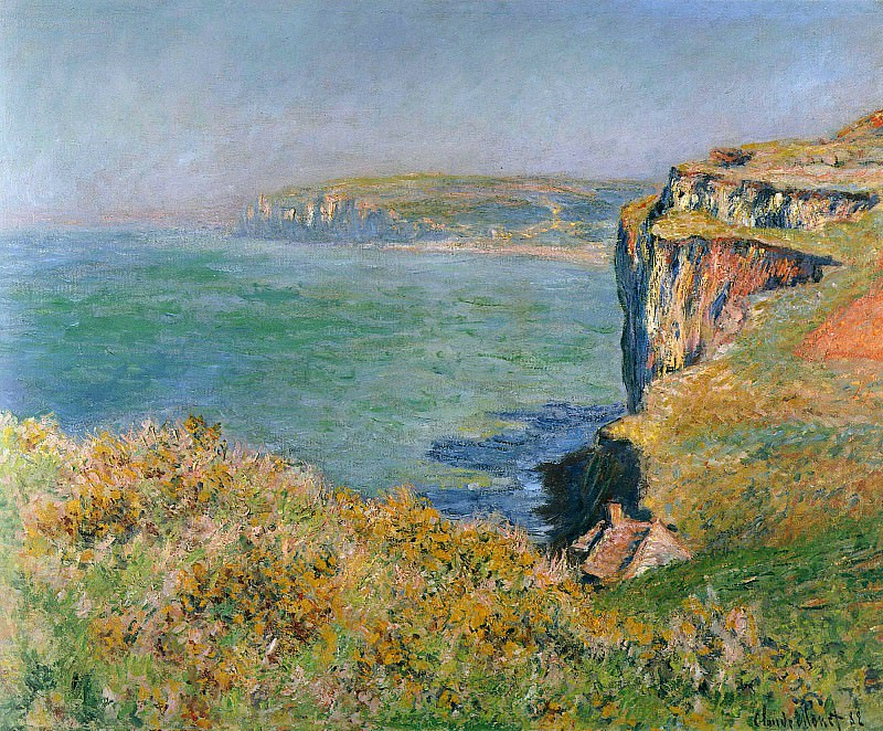 Cliff at Grainval. Claude Oscar Monet