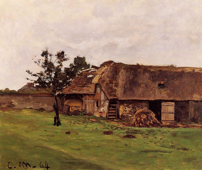Farm near Honfleur. Claude Oscar Monet