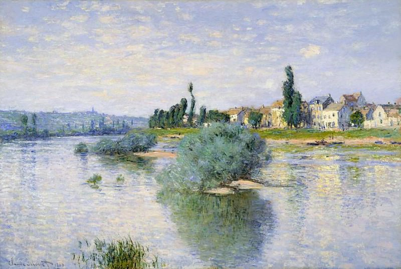 The Seine at Lavacourt. Claude Oscar Monet