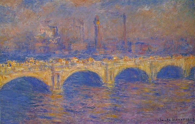 Waterloo Bridge, Sunlight Effect 4. Claude Oscar Monet