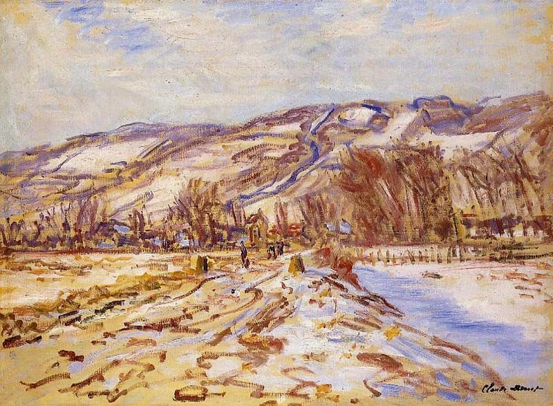 Winter at Giverny. Claude Oscar Monet