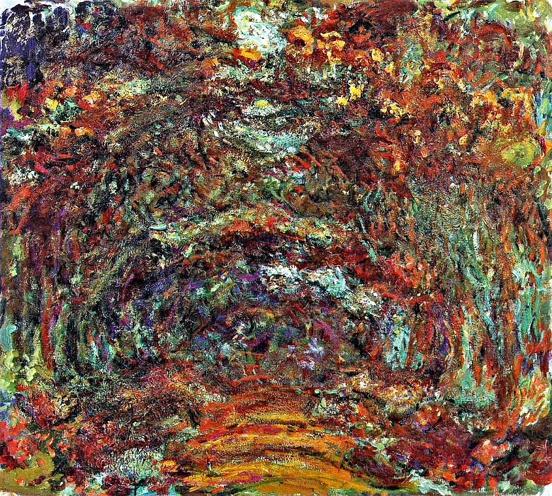 Path under the Rose Arches, Giverny. Claude Oscar Monet