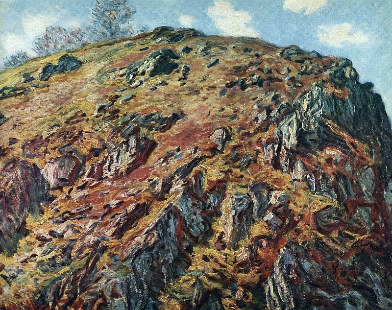 Study of Rocks. Claude Oscar Monet