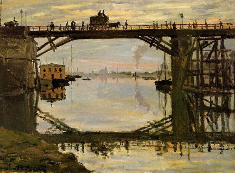 The Wooden Bridge. Claude Oscar Monet