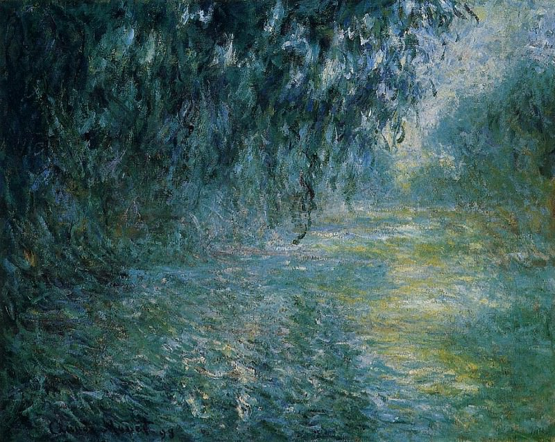 Morning on the Seine in the Rain. Claude Oscar Monet