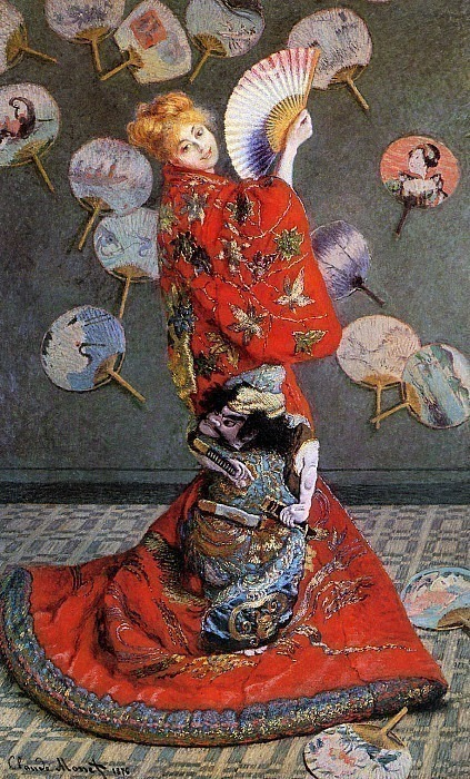 Camille Monet in Japanese Costume. Claude Oscar Monet