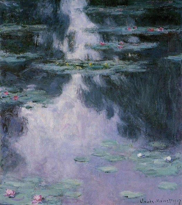 Water Lilies, 1907 06. Claude Oscar Monet