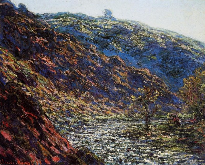 The Old Tree, Gorge of the Petite Creuse. Claude Oscar Monet