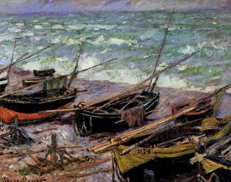 Fishing Boats. Claude Oscar Monet