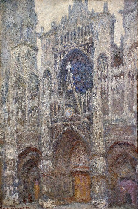 Rouen Cathedral, Grey Weather. Claude Oscar Monet