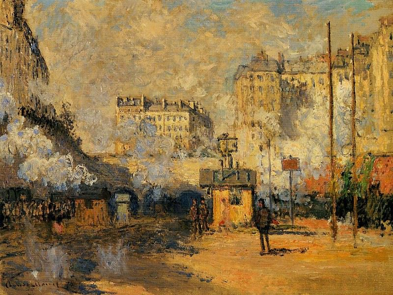 Saint-Lazare Station, Sunlight Effect. Claude Oscar Monet