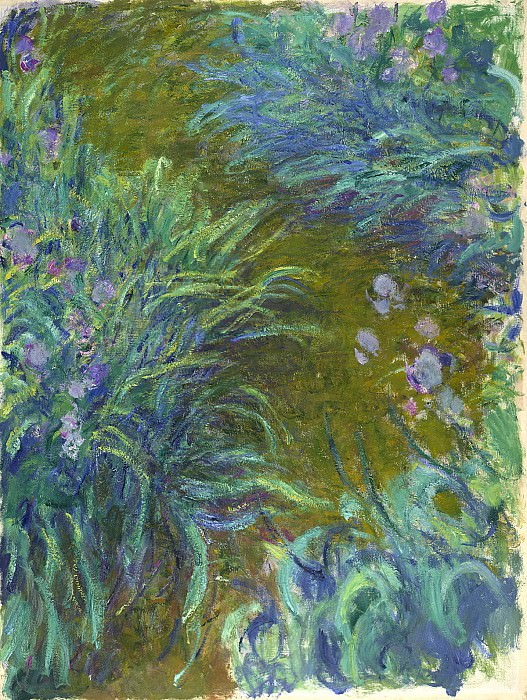 Path through the Irises 02. Claude Oscar Monet