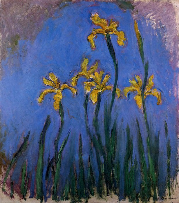 Yellow Irises. Клод Оскар Моне