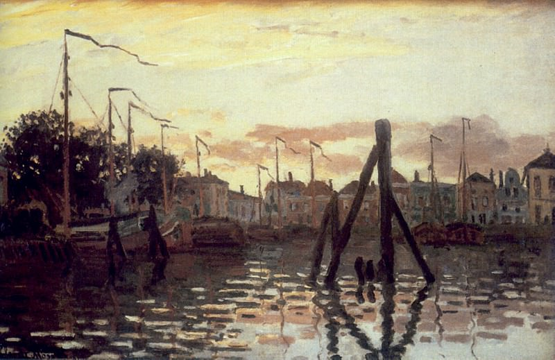 The Port at Zaandam. Claude Oscar Monet