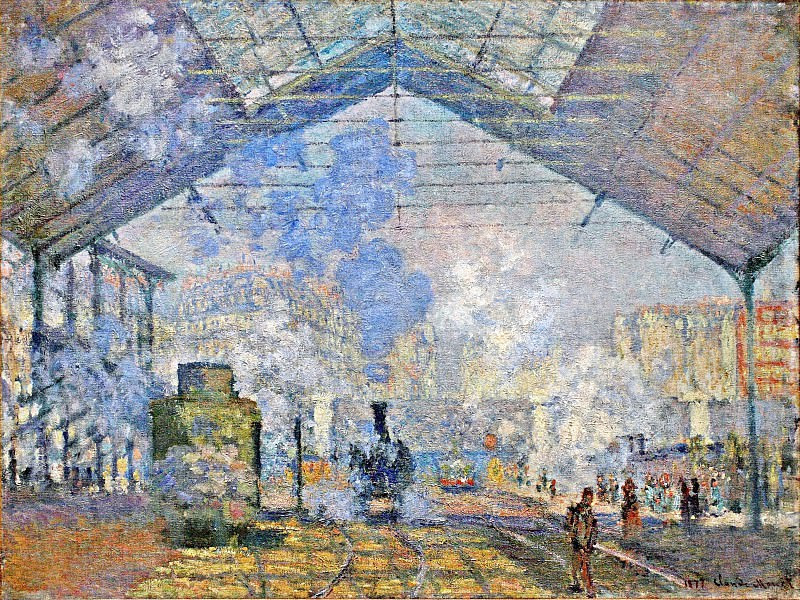 Saint-Lazare Station, Exterior View, 1877 1. Claude Oscar Monet