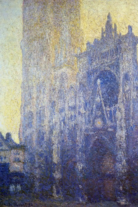Rouen Cathedral, the Portal, Morning Effect. Claude Oscar Monet