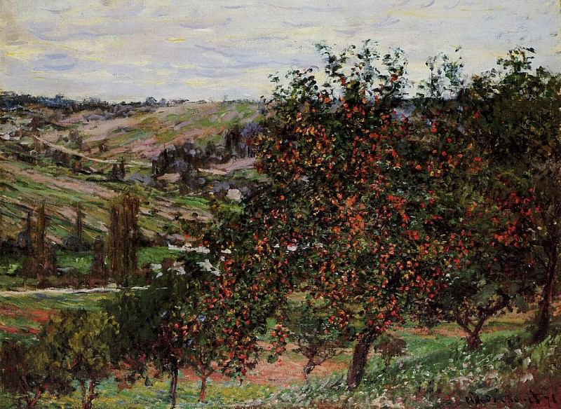 Apple Trees near Vetheuil. Claude Oscar Monet