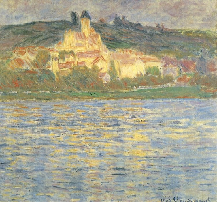 View of Vetheuil. Claude Oscar Monet