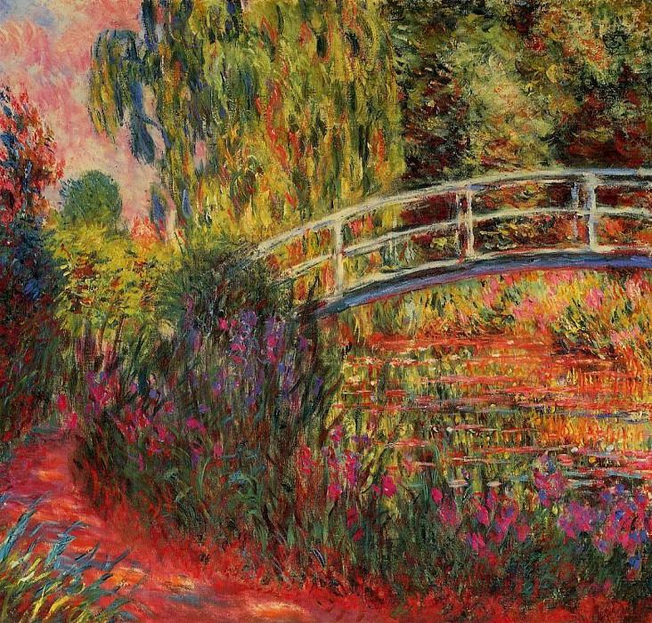 The Japanese Bridge (The Water-Lily Pond, Water Irises). Claude Oscar Monet