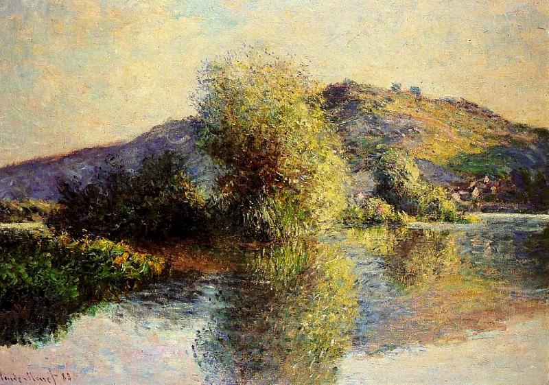 Isleets at Port-Villez. Claude Oscar Monet