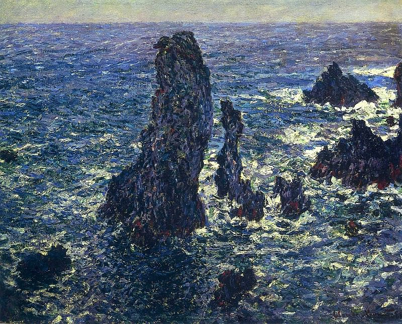 The 'Pyramids', Cliffs at Belle-Ile. Claude Oscar Monet